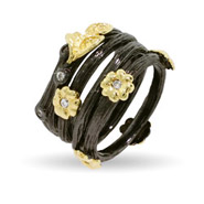 Golden Nature Four Band Stackable Ring Set