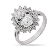 The Royal Ring In Brilliant Faceted Cut Diamond CZ