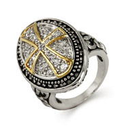 Designer Inspired Renaissance CZ Cross Ring