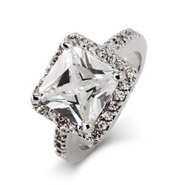 Jessica Biel Inspired Dazzling 4 Carat Princess Cut Engagement Ring