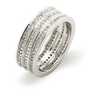 Stunning Triple Row Micro CZ Band