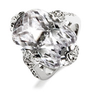 Glamour Girl Clear CZ Fancy Cocktail Ring