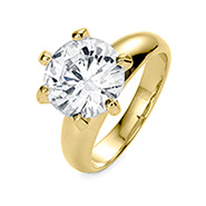 Classic 3.5 Carat Brilliant Cut CZ Gold Vermeil Engagement Ring