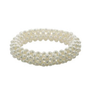 Stunning Freshwater Pearl Stretch Bangle Bracelet