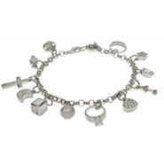 Treasure Chest of Charms Sterling Silver Charm Bracelet