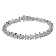 Wish Upon a Star Sterling Silver and CZ Tennis Bracelet