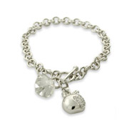 Twilight Inspired Team Edward Sterling Silver Charm Bracelet
