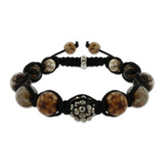 Tigers Eye Agate Courage and Creativity Shamballa Inspired Bracelet