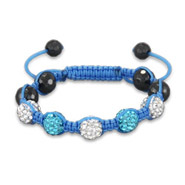 Shades of Sky Blue Kids Shamballa Style Bracelet