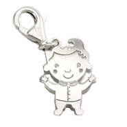 Sterling Silver Happy Little Boy Charm