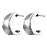 Concave Hoop Sterling Silver Earrings