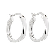 Tiffany Inspired Sterling Silver Cushion Hoop Earrings