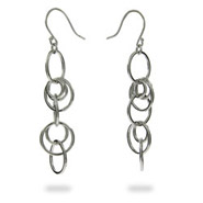 Sterling Silver Linking Circles Earrings