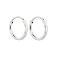 3/8 Inch Petite Sterling Silver Hoop Earrings