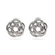 Tiffany Inspired Sterling Silver Celtic Knot Stud Earrings