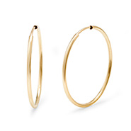 14K Gold Filled 1 Inch Hoop Earrings