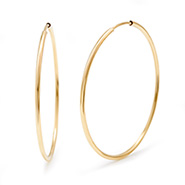 14K Gold Filled 1.5 Inch Hoop Earrings