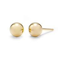 Tiffany Style 6mm 14K Gold Fill Bead Earrings