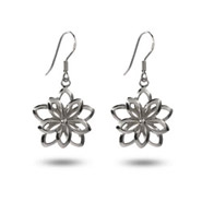 Sterling Silver Double Flower Earrings