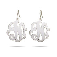 Sterling Silve Custom Monogram Single Initial Earrings