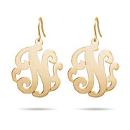 Gold Vermeil Custom Monogram Single Initial Earrings