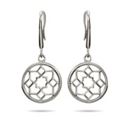 Tiffany Inspired Flower Medallion Sterling Silver Earrings