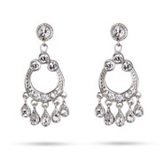 Mena Suvari Inspired Sterling Silver Diamond CZ Chandelier Earrings