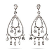 Cameron Diaz Inspired Dangling Drop Cubic Zirconia Chandelier Earrings