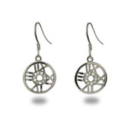 Tiffany Inspired Cubic Zirconia Atlas Round Dangle Earrings