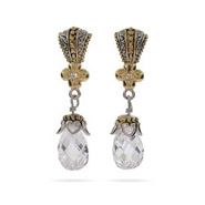 Vintage Style Designer Inspired Diamond CZ Peardrop Earrings