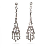 Jasmine's Long Dangling CZ Chandelier Earrings