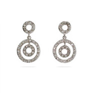 Stunning CZ Circle Drop Earrings