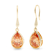 Kate Middleton Inspired Champagne Gold Vermeil Peardrop Earrings