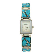 Genuine Turquoise Stone Fashion Watch