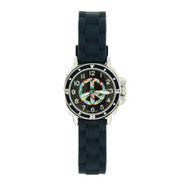 Navy Blue Peace Sign Mood Dial Jelly Watch