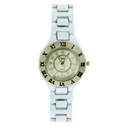 Contemporary White Roman Numeral Ladies Watch