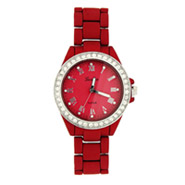 Red Matte Finish CZ Boyfriend Watch
