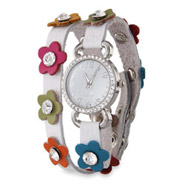 Spring Daisy CZ Wrap Around Watch