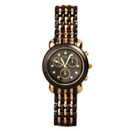 Gun Metal and Rose Gold Boyfriend CZ Watch