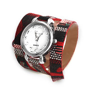 Aztec Inspired Woven Design Wrap Watch