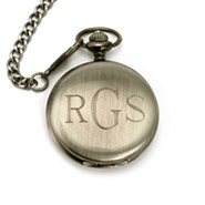 Treasured Times Collection by Eve Gun Metal Engravable Pocket Watch