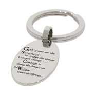 Serenity Prayer Stainless Steel Engravable Keychain