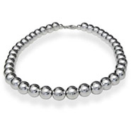 Tiffany Inspired 10mm Sterling Silver Bead Necklace
