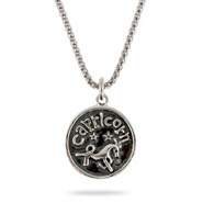 Sterling Silver Capricorn Zodiac Pendant Dec. 22 - Jan. 19