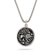 Sterling Silver Leo Zodiac Pendant July 23 - Aug. 23