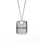 Namaste Engravable Dog Tag Pendant