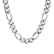 9mm Men's Stainless Steel Figaro Necklace