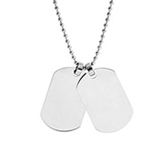 Stainless Steel Double Dog Tag Necklace