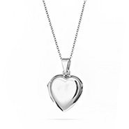 Engravable Sterling Silver Plain Puffed Heart Locket