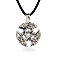 Ornate Sterling Silver Celtic Trinity Pendant